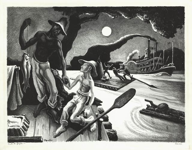 , 'Huck Finn.,' 1936, The Old Print Shop, Inc.