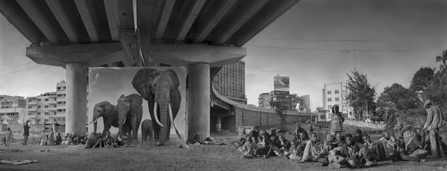 , 'Underpass With Elephants & Glue-Sniffing Children,' 2015, Atlas Gallery