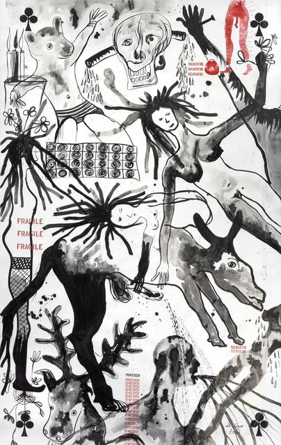 Barthélémy Toguo, 'Rain on a private Garden I', 2006, Galerie Lelong & Co.