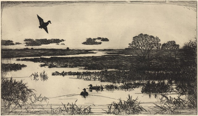 Frank Weston Benson, 'Essex Marshes.', 1930, Print, Etching,, The Old Print Shop, Inc.