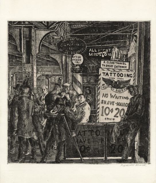 Reginald Marsh | Tattoo-Shave-Haircut. (1932) | Available for Sale ...