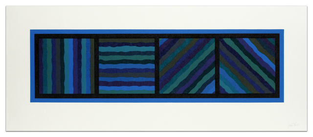 , 'Bands (Not Straight) in Four Directions (Blue),' 1999, Alan Cristea Gallery