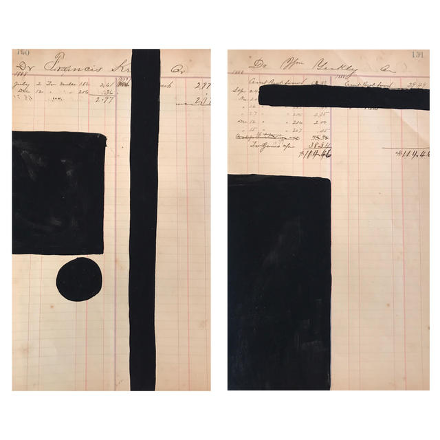 , 'Black Study I & II,' , The George Gallery