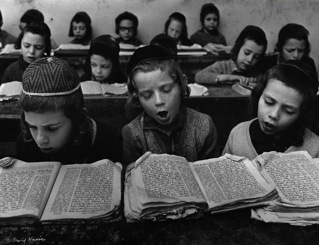 David Harris, 'Boys studying Torah in Cheder, Meah Shearim, Jerusalem', c. 1960, Vision Neil Folberg Gallery