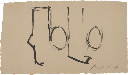 Robert Motherwell, 'Spanish Elegy I,' 1975, Phillips: Evening and Day Editions