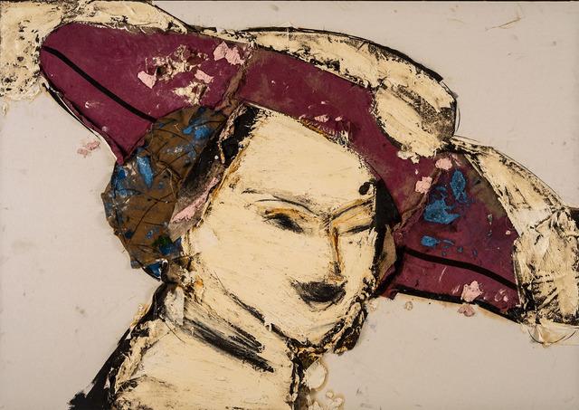 , 'Dama con sombrero rojo y blanco ,' 2016, Galeria Freites