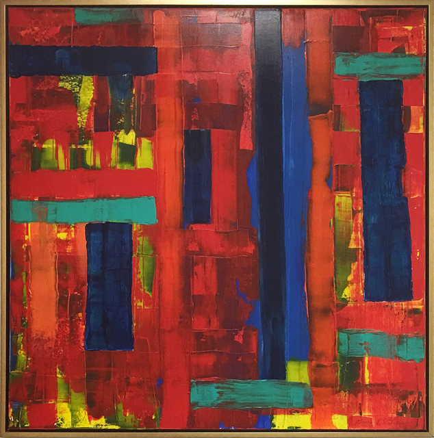 , 'Red on Blue No.1,' 2014, Gallery Pegasus