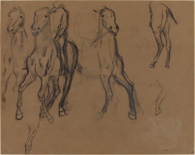 Edgar Degas, 'Study of Horses', ca. 1886, National Gallery of Art, Washington, D.C.