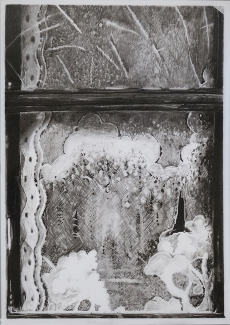 Mireille Blanc, 'Grand rideau (2)', 2018, Drawing, Collage or other Work on Paper, Charcoal on tracing paper, Purdy Hicks Gallery