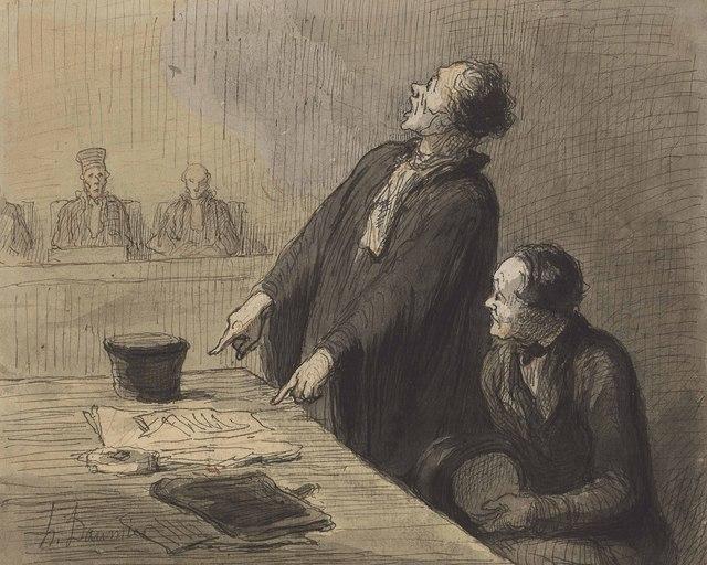 Honoré Daumier, 'Le défenseur (The Defense Attorney)', Christie's Old Masters