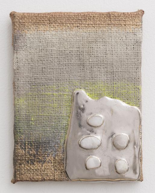 , 'Palladium Pigment Stones Burlap,,' 2014, Morgan Lehman Gallery