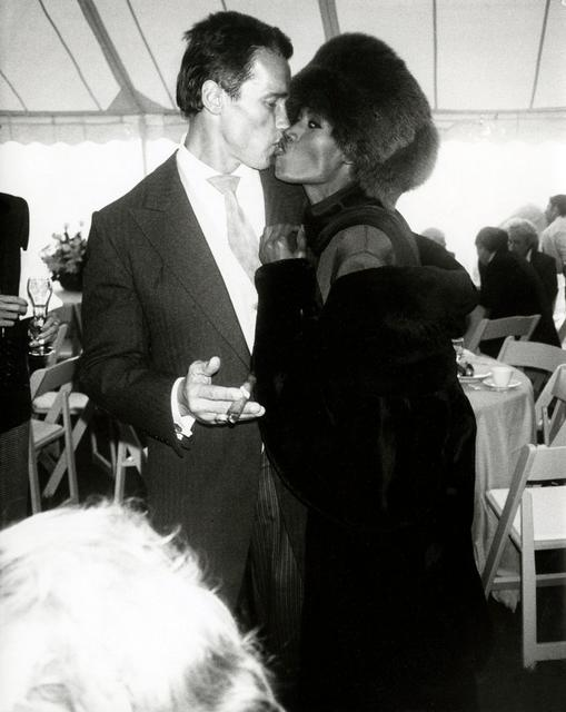 Andy Warhol, 'Arnold Schwarzenegger with Grace Jones at his wedding to Maria Shriver, Hyannis Port, MA,', 1986, The Future Perfect