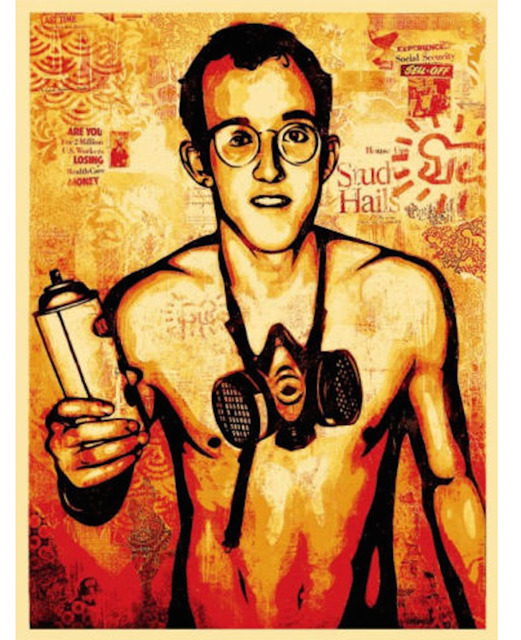 Shepard Fairey, 'Keith Haring', 2010, EHC Fine Art Gallery Auction