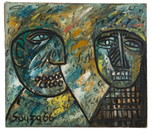 Francis Newton Souza, 'Portrait of Jerome and Marcel', 1966, John Moran Auctioneers