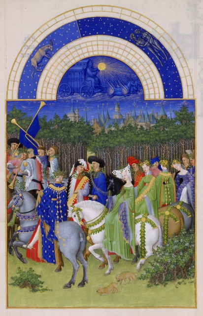 Limbourg Brothers, 'May, miniature from the Très Riches Heures', ca. 1411-1416, Art History 101