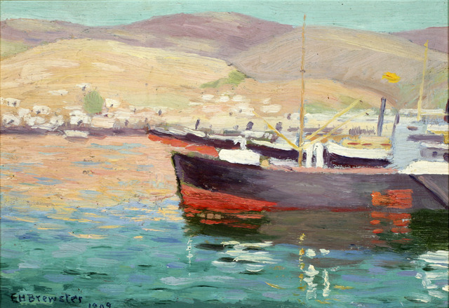 Earl Henry Brewster, 'Boat with Greenish Waterand Mountains', ACA Galleries