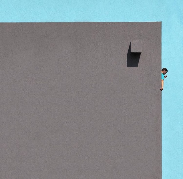 , 'Grey Square and Blues,' 2015, Catherine Edelman Gallery