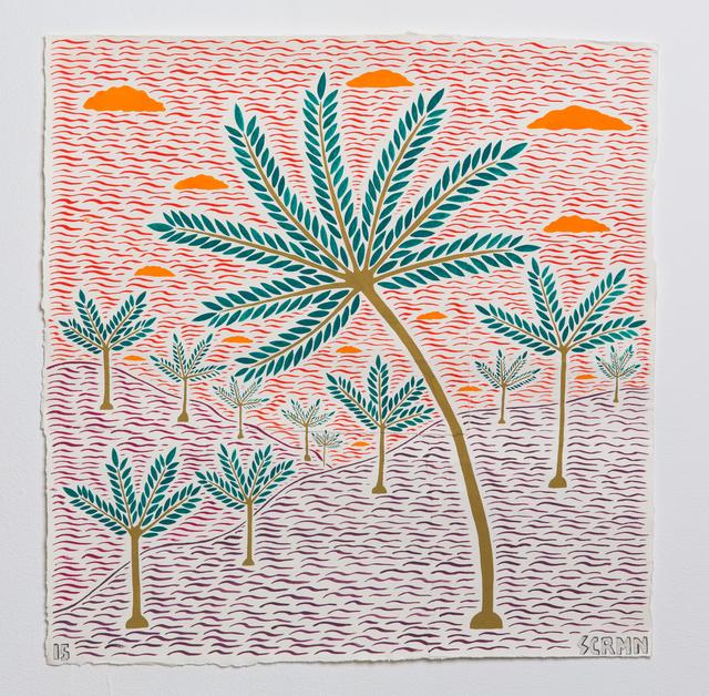 , 'Orange skies (museum feet),' 2015, Hans Alf Gallery