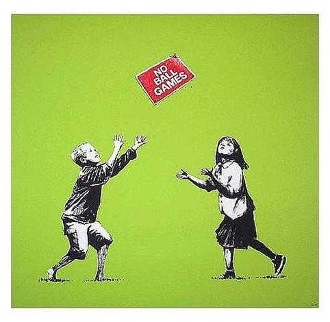 Banksy, 'No Ball Games (Green)', 2009, ArtLife Gallery