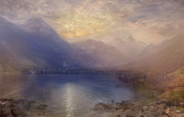 Hiroyuki Masuyama, 'J.M.W. Turner Lake Of Zug Early Morning', 2015, Photography, LED Lightbox, GALERIE URS REICHLIN