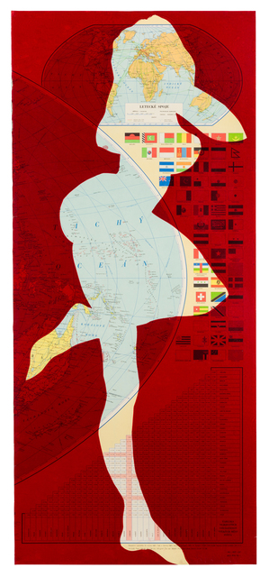 Stano Filko, 'Map of the World (Woman)', 1967, The Mayor Gallery