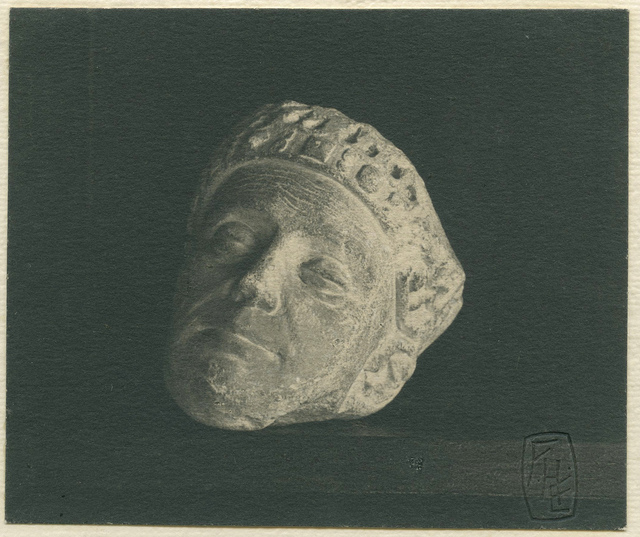 , 'Winchester Cathedral, Carved Head from Screen, now in the library.,' ca. 1900, Roland Belgrave Vintage Photography Ltd
