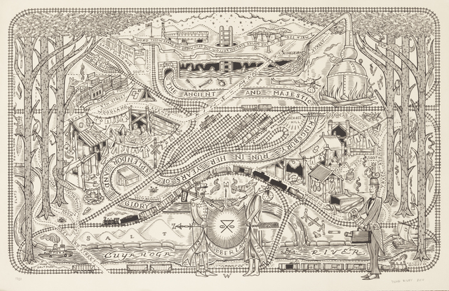 Duke Riley, 'The Ancient and Majestic Kingsbury Run in Her Years of Splendor and Glory', 2010, Andrew Edlin Gallery