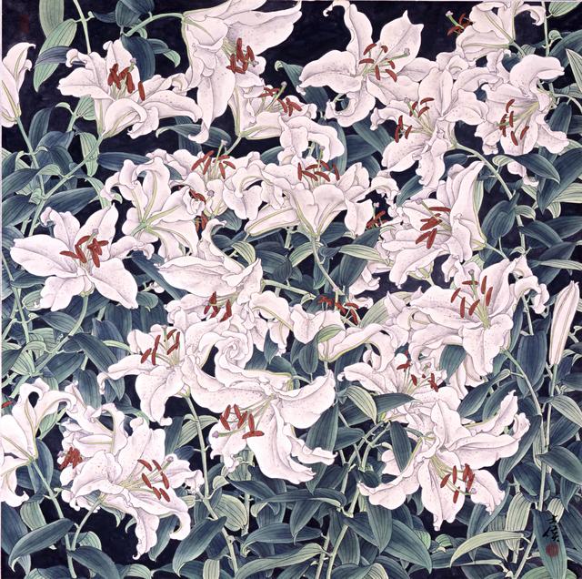Shi-Hou Chen (陳士侯), 'Lily 百合花', Asia University Museum of Modern Art