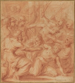 Carlo Maratti, 'Judith with the Head of Holofernes', Drawing, Collage or other Work on Paper, Red chalk on laid paper, National Gallery of Art, Washington, D.C.