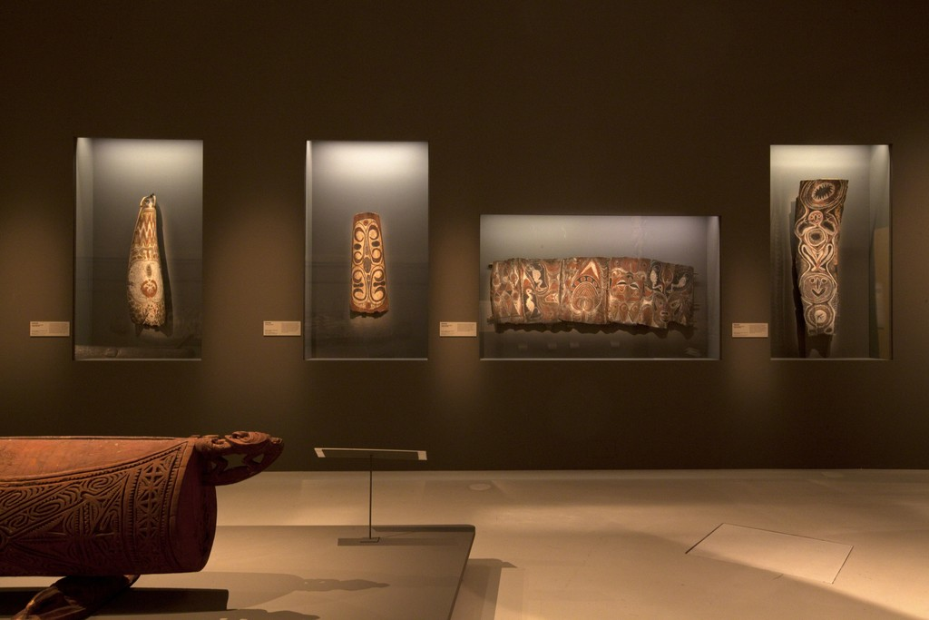 "Installation view of ""Sepik: Art Along the River"" at Musée du quai branly, 27 October 2015 - 31 January 2016"