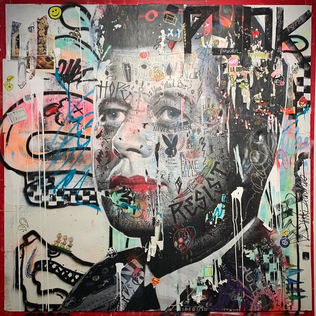 Stikki Peaches, 'JFK', 2019, Painting, Mixed media on wood, street crate topper, Art Angels