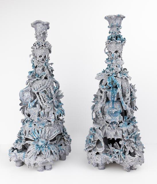 , 'Pair of Candelabras (Dentyne Ice),' 2017, Conduit Gallery