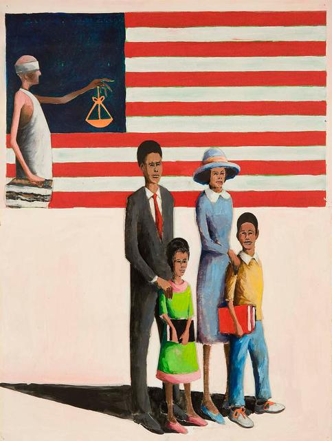 Benny Andrews, 'Education Quest #1 (Migrant Series)', 2004, Michael Rosenfeld Gallery