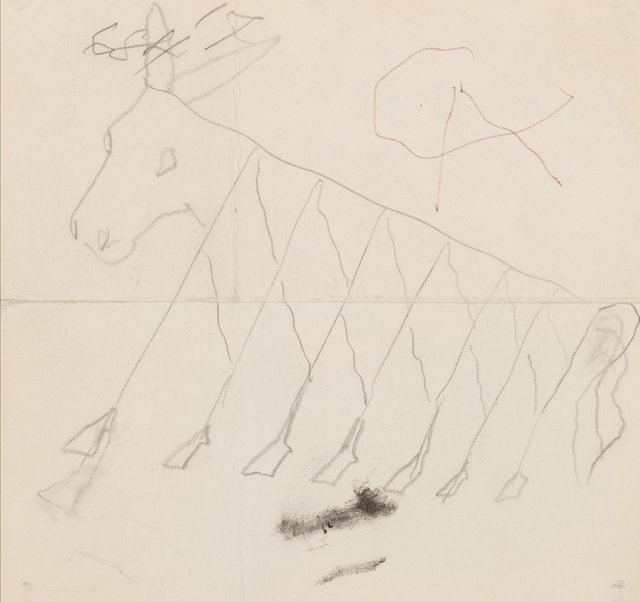 """Alexander Calder, 'Preliminary drawing for """"Beastie"""" (Flying Colors engine cowling)', 1973, Heritage Auctions"""