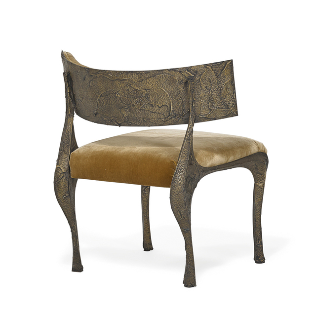 Paul Evans, 'Wide and low Sculpted Bronze chair, USA', 1970s, Rago