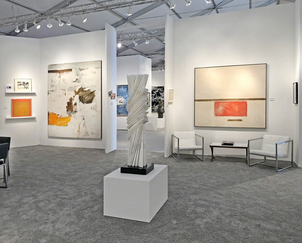 Art Miami 2018, Booth 319 - Left to right: Joan Mitchell, Josef Albers, Julius Tobias, Pablo Atchugarry, and Theodoros Stamos