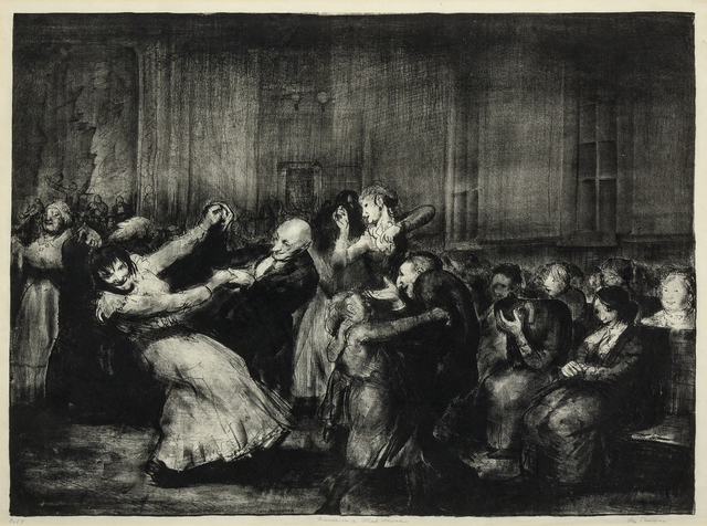 George Wesley Bellows, 'Dance in a Mad House', 1917, Hindman