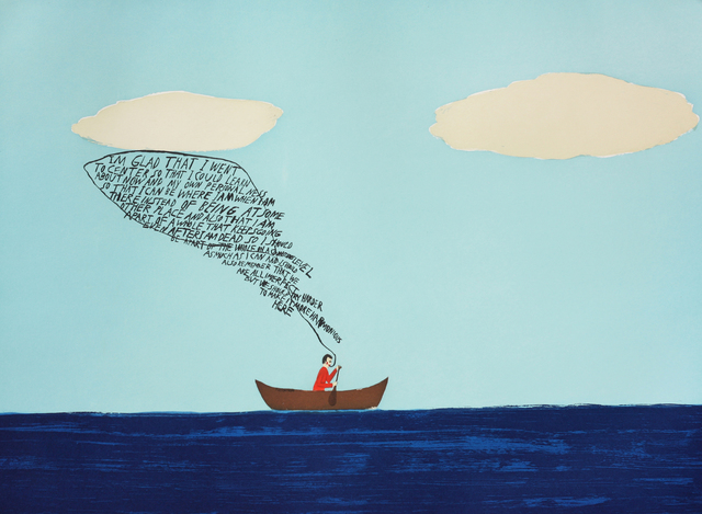 Chris Johanson, 'I Am Glad That I Went To Center', 2002, Paulson Fontaine Press