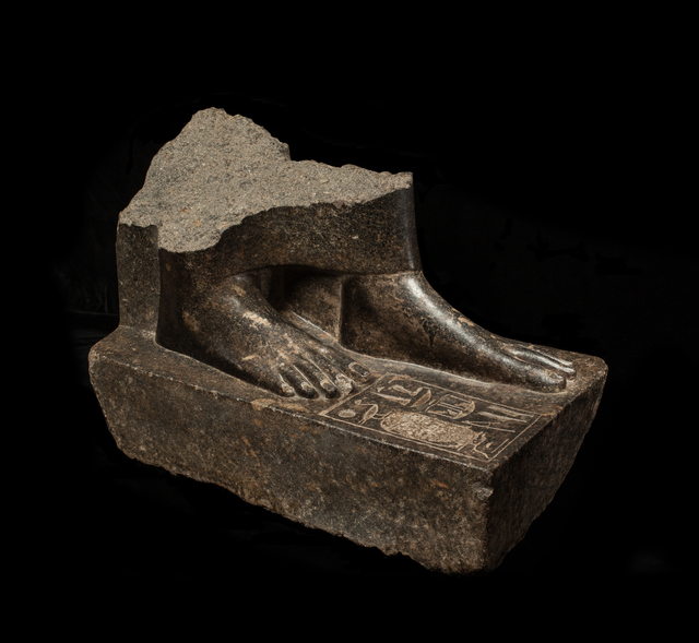 , 'Egyptian granodiorite statue base of Sepdet,' New Kingdom, 18th Dynasty, reign of Amenhotep III, c.1350 BC, Charles Ede
