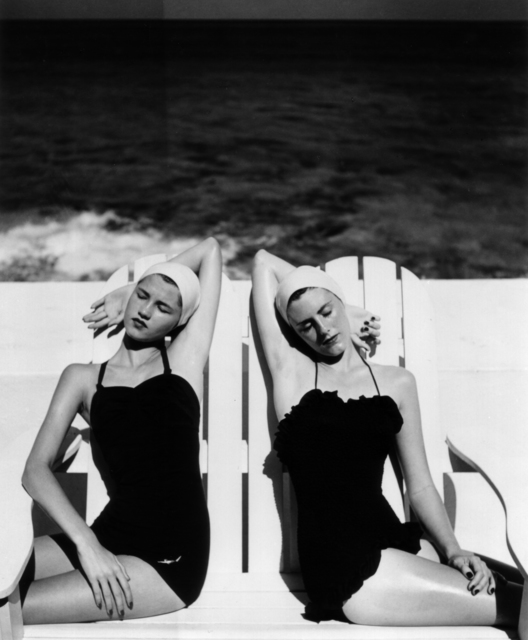 Louise Dahl-Wolfe, 'Twins at the Beach, Harper's Bazaar', 1949, Photography, Gelatin Silver Print, Staley-Wise Gallery