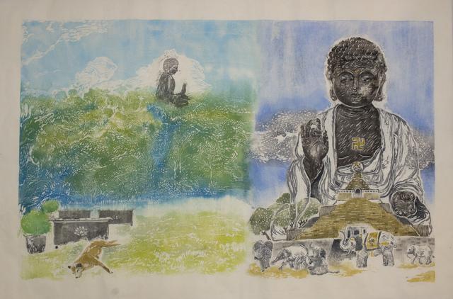 , 'Half and Half series:  Buddha Hong Kong and Taiwan,' 2018, Artify Gallery