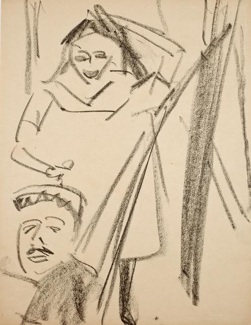 , 'Stehende Fränzi und Mann in Hängematte,' 1910, Galerie Utermann