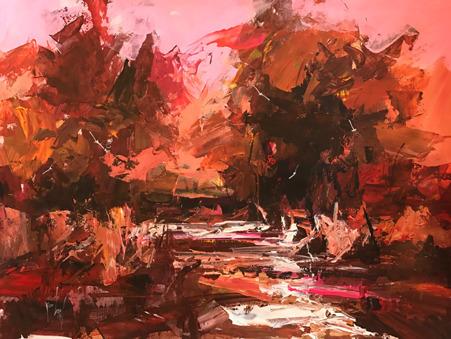 , 'Red Foliage,' 2018, Nicholas Roman Fine Art