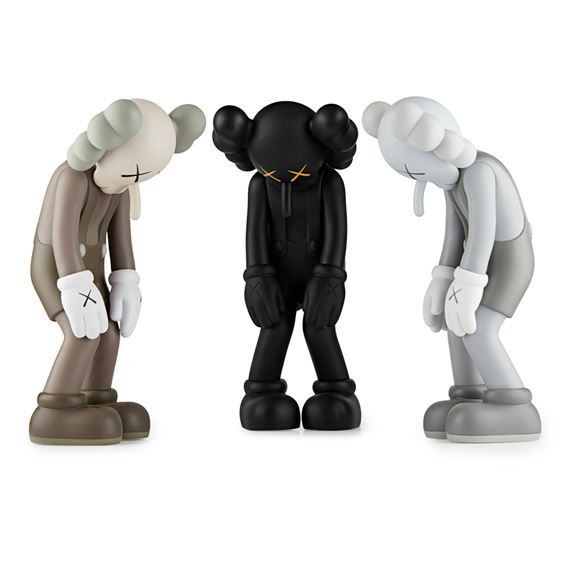 KAWS, '(i) Small Lie (Brown); (ii) Small Lie (Black); (iii) Small Lie (Grey)', 2017, Mixed Media, Vinyl cast resin and paint, artrepublic