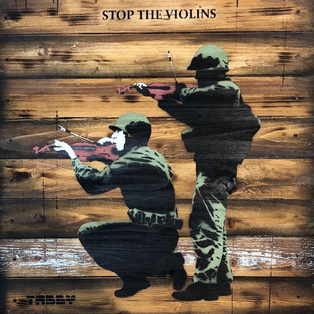 , 'Tabby: Stop The Violins,' 2018, Landmark Street Art