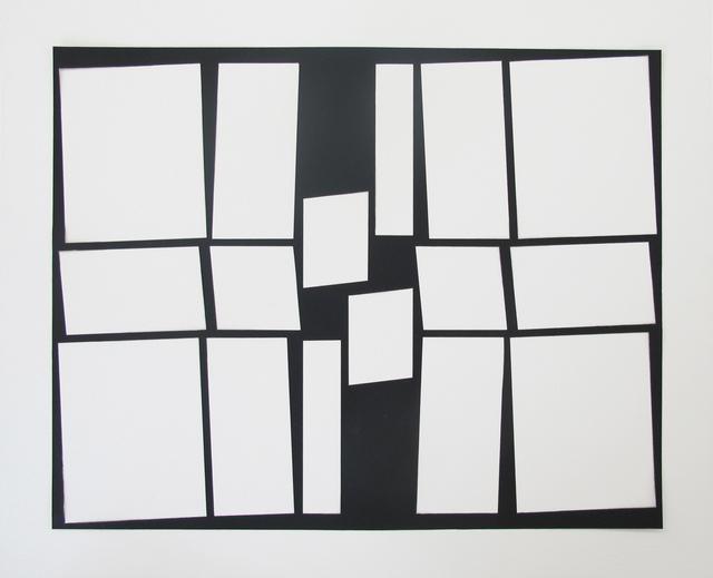 , 'Papelpretoesquema,' 2015, Galeria Leme
