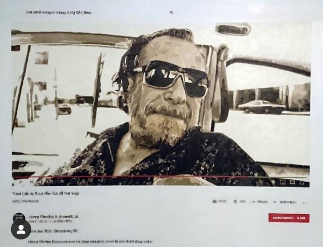 Joeggu Hossmann, 'Bukowski', 2019, Painting, Oil on canvas, Axiom Contemporary