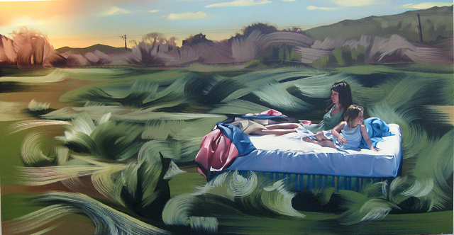 Rebecca Campbell, 'She Made the Sky', 2009, Painting, Oil on canvas, L.A. Louver