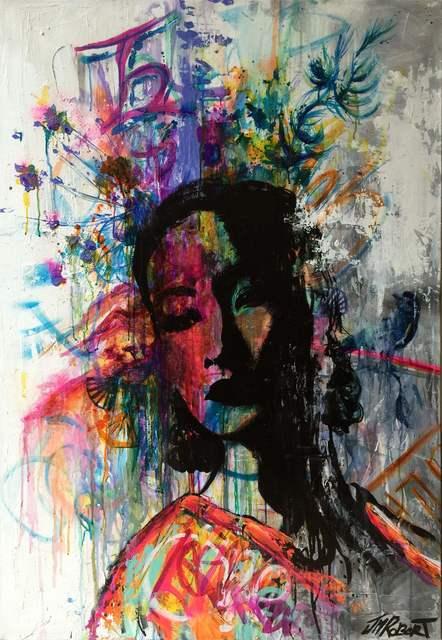 JM Robert, 'Elle se souvient de son enface', 2015, Painting, Art Supermarket