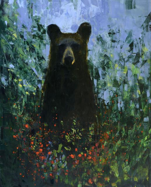 , 'Black Bear with Berries,' 2019, Rice Polak Gallery